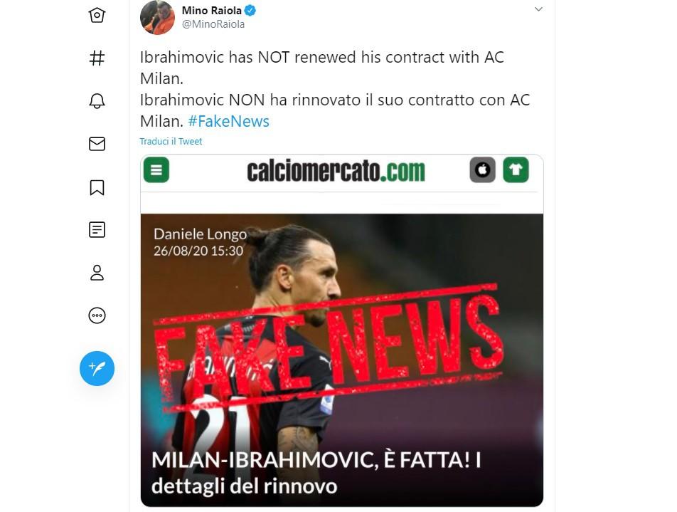 Rinnovo una fake news: tifosi contro Raiola e Ibra |  Sport e Vai