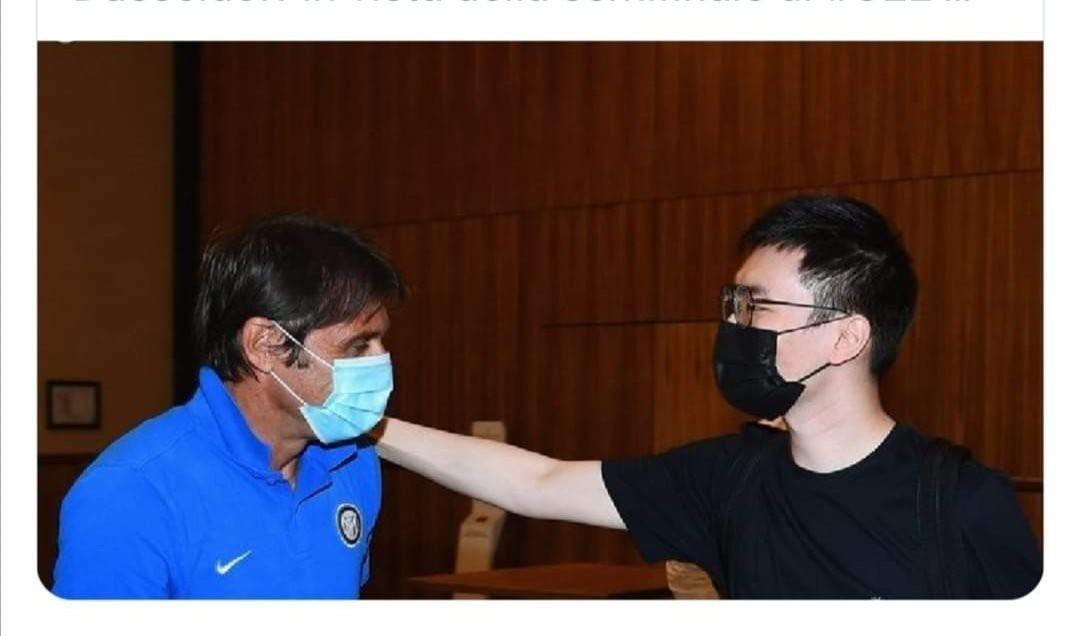 Incontro Zhang-Conte, scatta ironia del web |  Sport e Vai