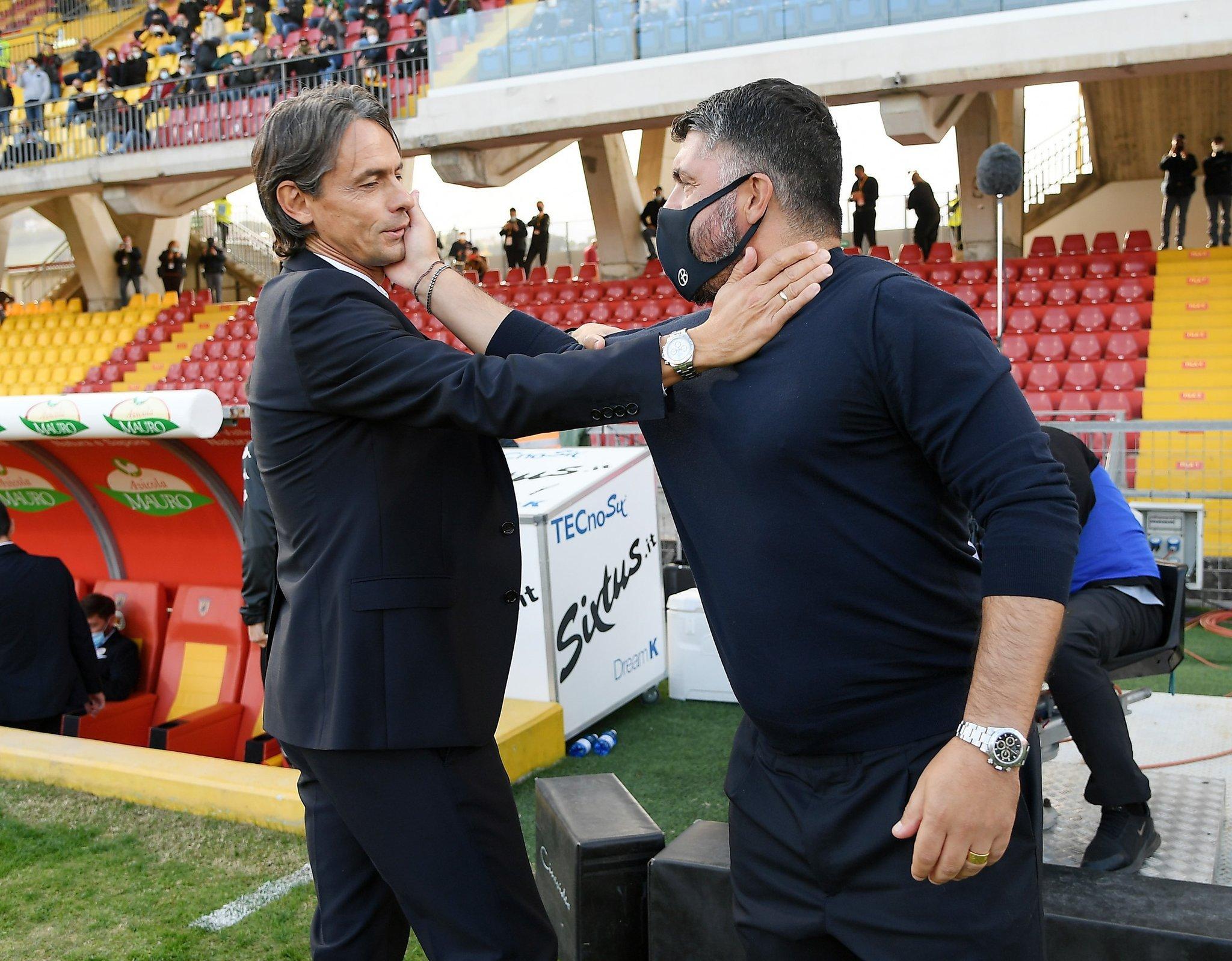 Abbraccio Pippo-Ringhio, nostalgia Milan sul web |  Sport e Vai