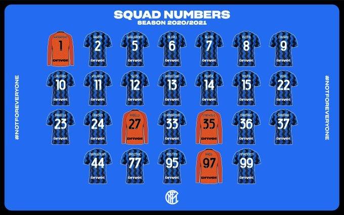 Inter, ufficiali tutti i numeri di maglia della stagione |  Sport e Vai
