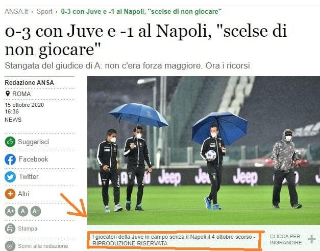Gaffe Ansa scatena ironia tifosi del Napoli    Sport e Vai