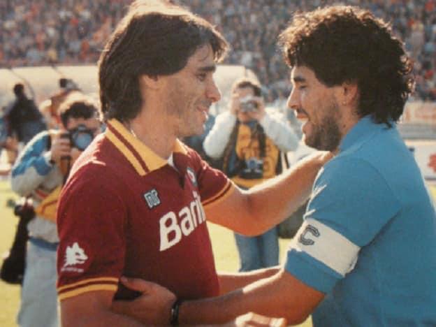 Figlio Falcao commosso per omaggio Conti a Maradona    Sport e Vai