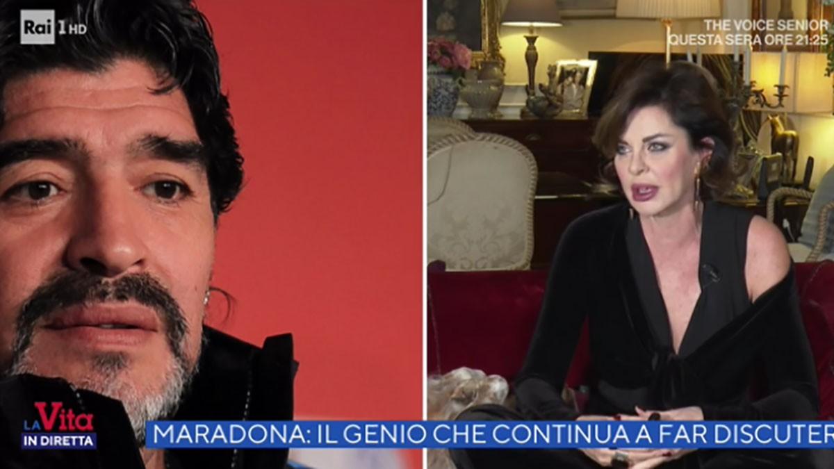 Parietti: Volete sapere se Maradona ci ha provato con me? |  Sport e Vai