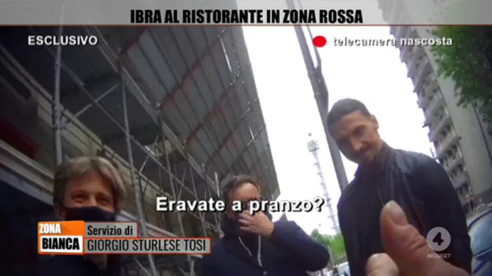 Zona rossa, Ibrahimovic: Non ero a pranzo, ecco com'è andata |  Sport e Vai