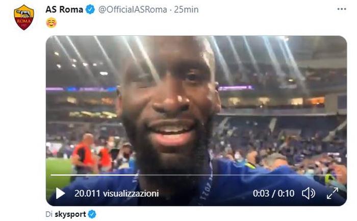 Rudiger vince la Champions e urla ai microfoni: Forza Roma sempre |  Sport e Vai