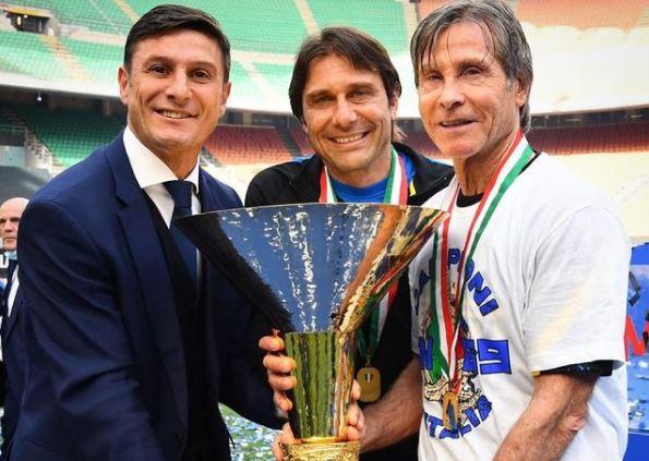 Post con lo scudetto, Zanetti manda in delirio gli interisti |  Sport e Vai