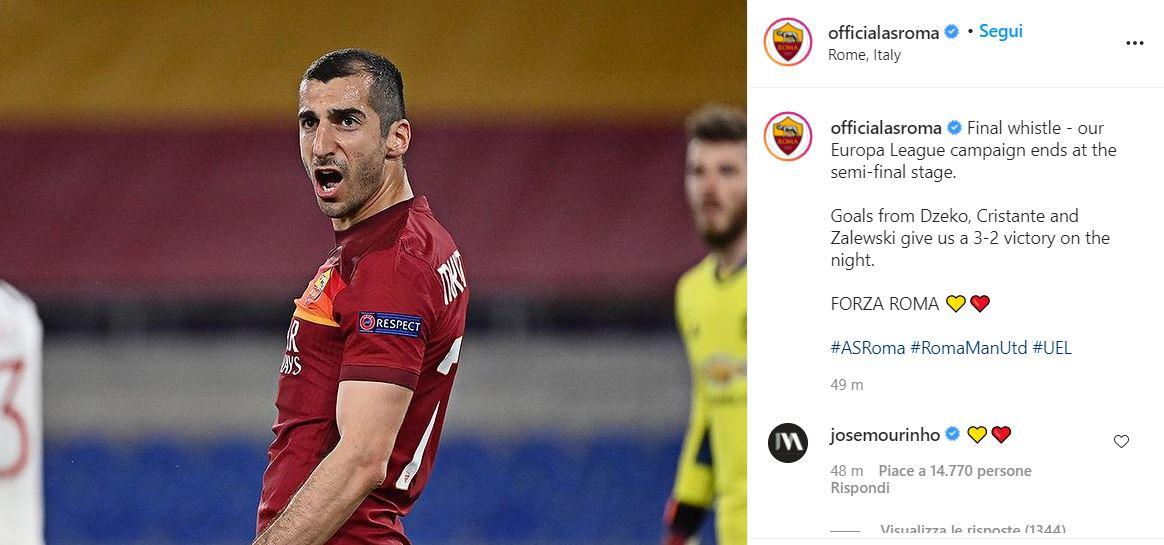 Roma, Mourinho manda in delirio i tifosi giallorossi |  Sport e Vai
