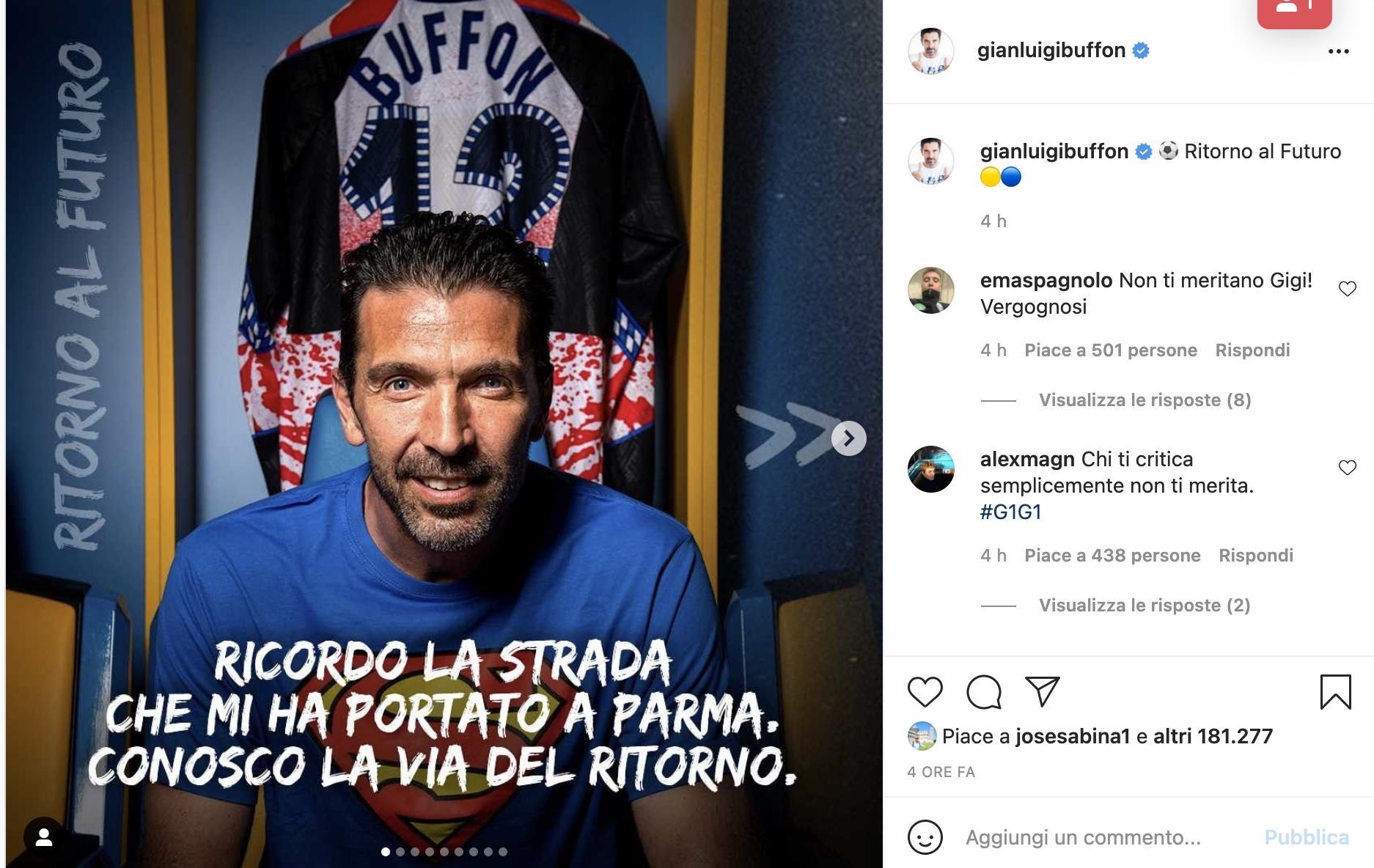 Lettera di Buffon: ritorno a casa e il saluto alla Juve |  Sport e Vai