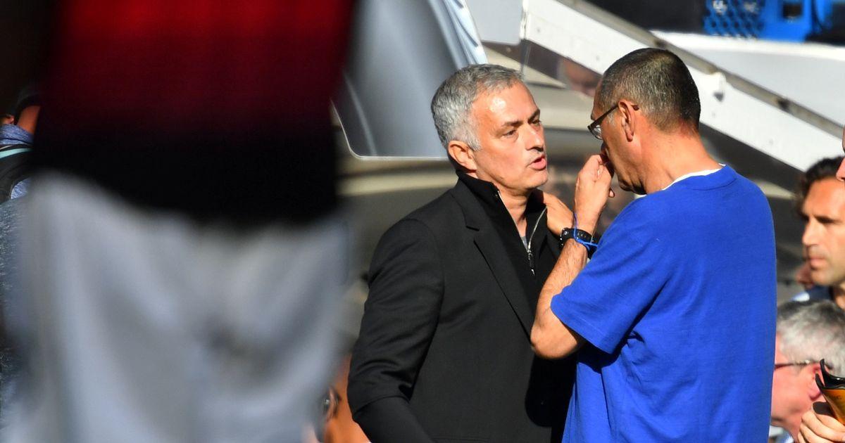 C'eravamo tanto odiati: Sarri-Mourinho-2, la vendetta |  Sport e Vai