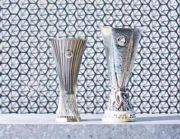 immagine per UEFA Conference League, ecco le foto del nuovo trofeo