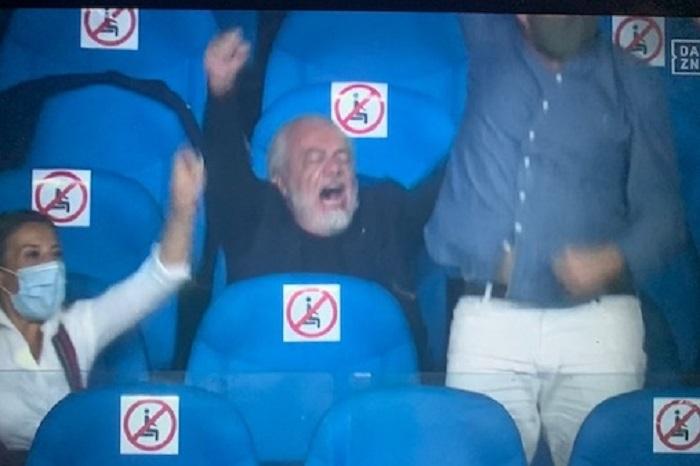 Urlo liberatorio o parolaccia? L'esultanza di De Laurentiis è virale    Sport e Vai