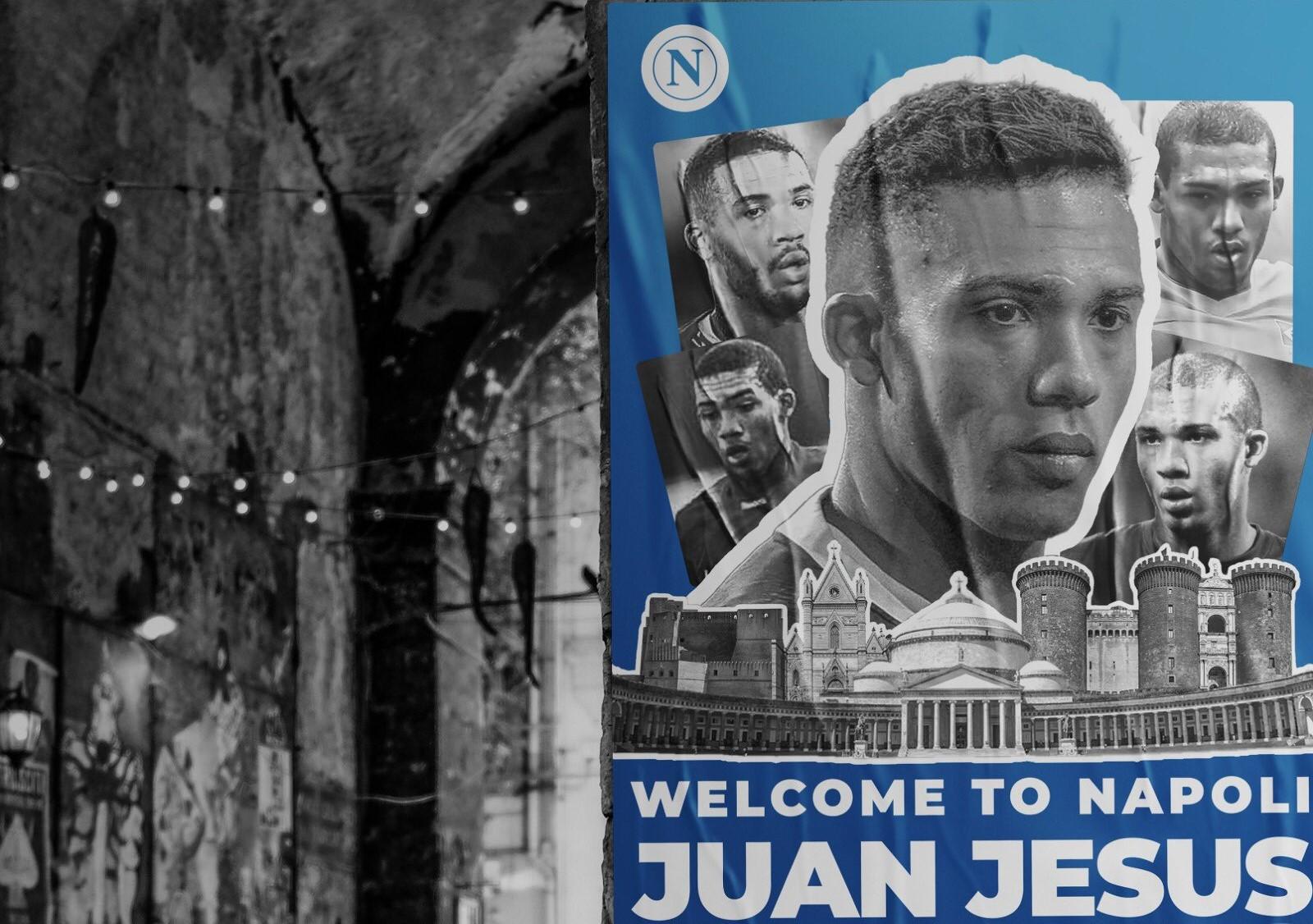 Un solo anno per Juan Jesus, tifosi colpiti da grafica annuncio    Sport e Vai
