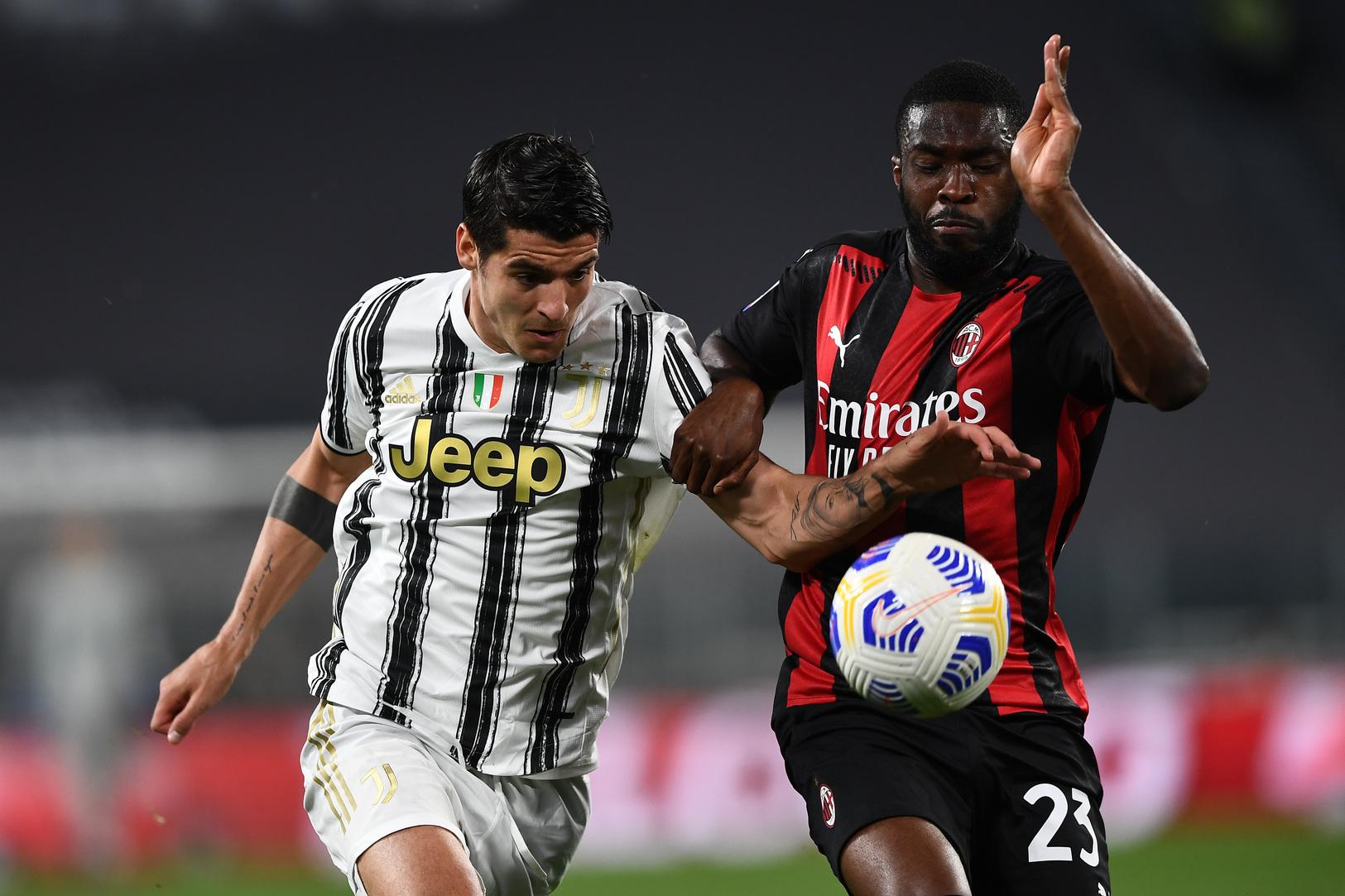 Juventus-Milan: per i bookmaker la classifica non conta    Sport e Vai