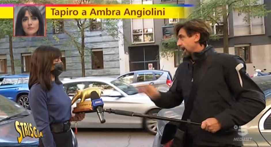 Tifosi Juve contro Striscia per il Tapiro ad Ambra |  Sport e Vai